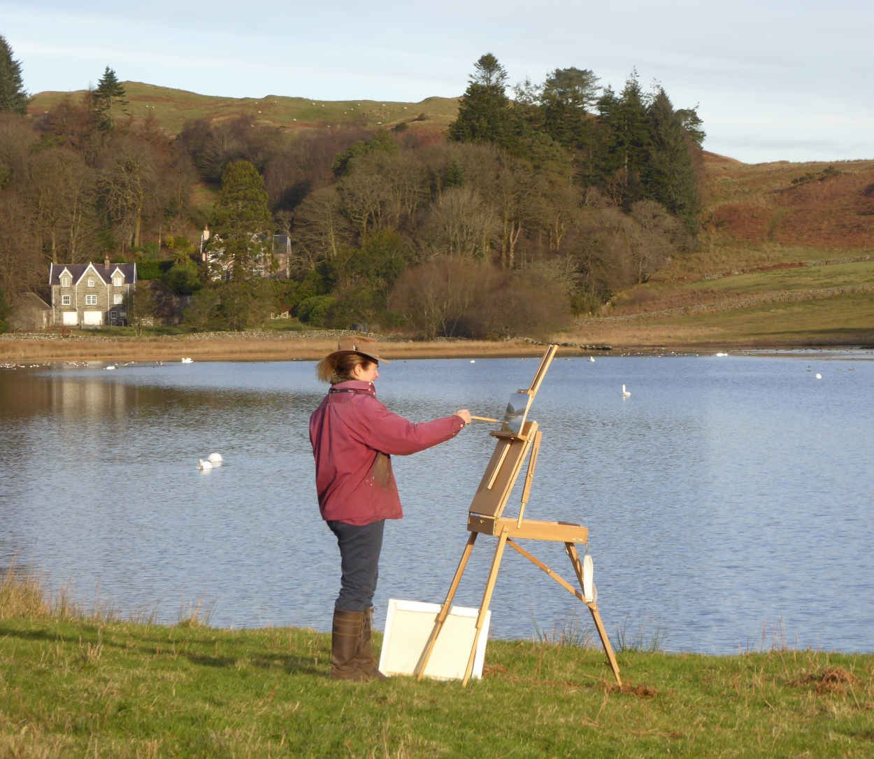 Painting at Ornockenoch